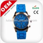 Silicone watch 2014 new geneva watch china replica lady watch promotional gift blue