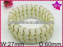 Colorful beads zinc alloy jewelry flexible bracelet pen