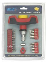 HZE-8184 25 PC ratchet screwdriver for 6.3MM &4.0MM bits sets &repairing PC screwdriver sets