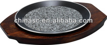 Natural Granite Round pizza pan 2.4l oval pyrex glass baking dish