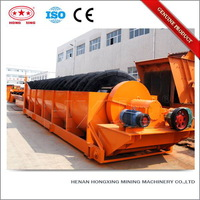 Professional high weir mineral coal washing single spiral classifier for sale