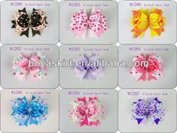 Various Boutique Hair Bow Girls Children Alligator Clip Ribbon Headbands Big Style 11.5CM Kids Bowknot Hairpin Hair tire