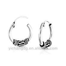Vintage Bali Style Rope Hoop earrings