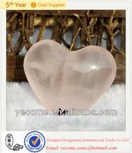 Wholesale natural rose quartz heart for wedding