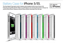 lithium polymer battery portable charger for iphone 5 5s external battery case
