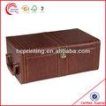 De madera de cuero&& cajas de papel para botellas de vino