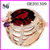 2014 fashion trend 925 sterling silver antique ring with big bred stone and white zircon inserted