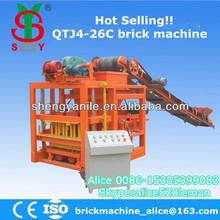 QTJ4-26C coal ash brick making machine,semi automatic brick machine