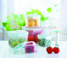 5pcs air pump vacuum food container