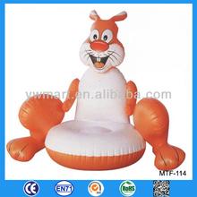 Fashion PVC inflatable children animal sofa