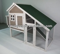 Chinese wholesale cheap indoor outdoor easy clean egg laying wooden chicken coop breeding with large run waterproof for sale