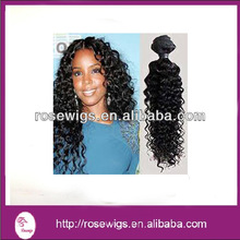 machine made human hair extension/weft