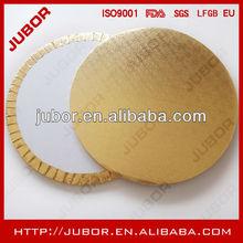 """turned edge round gold corrugated cake circle,18"""" cake circle"""
