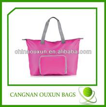 hottest customized nylon folding shopping tote bag