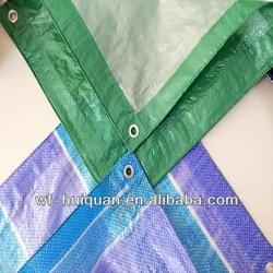 custom green knife coated trailer tarps/fire retardant tarpaulin