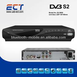 hd 1080p satellite digital receiver, receivable from C/Ku band satellites, MPEG4/H.264 DVB-S2 set top box.