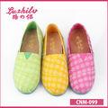 luzhilv colorato disegno tartan scarpe di tela ingrosso