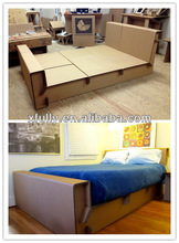 Green Fashionable corrugated paper bed /new style recycled corrugated paper furniture