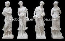 Four Season White Marble Nude Woman Statue