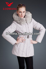 2014 Hot sale brand new design shiny long classic fashion collar turkish women coats