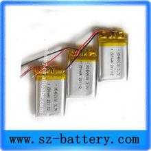 Hot Sale Li-polymer 3.7v 180mah Battery 402030 Rechargeable Lipo Battery