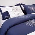 100% de algodón hotel uso de ropa de cama de satén tela