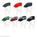 Militar de lana de la boina sombreros del ejército militar de la boina boinas venta