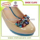 New design 2014 wedding bridal rhinestone crystal shoe clip for women high heel,shoe accessory