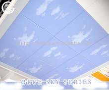 Close to nature metal square suspended ceiling board /Blue sky series