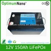 12V 150ah rechargeable LiFePO4 battery for forklift