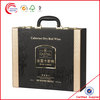 6 bottle wine cardboard boxes & leather boxes with wine opener set wholesale