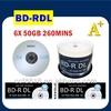 Taiwan A+ raw material dvd blu ray bluray disc 25gb 50gb printable