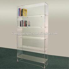 Clear acrylic bookshelf