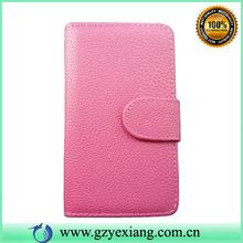 Solid color for nokia lumia 520 pu leather flip case