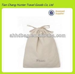 Cheap Canvas white cotton shoes drawstring bag, laundry drawstring bag
