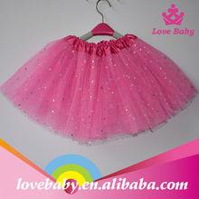 Wholesale puffy layered baby girls hot pink glitter tutus skirt