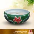 jingdezhen decorativos de cerámica personalizada montado en la pared del tanque de peces
