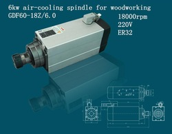 6kw multi spindless wood cnc router spindles for engraving machine