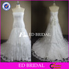 NS567 Crystal Beaded Strapless Real Sample Mermaid Cut Lace Wedding Dress