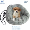 100% cotton cover heated pet dog bed with waterproof inner pet pads with CE and RoHS approval