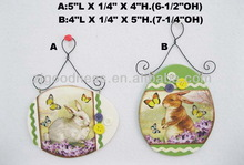 Hot Sale Wooden Easter Eggs with Button