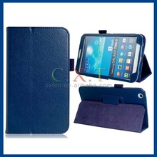 Textured Pattern Faux Leather Flip Case for Samsung Galaxy Tab 3 8.0 T310 T311 (Blue)