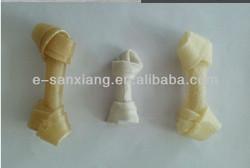 dogs dental bone treats/rawhide knotted bone dog chews/pet snacks