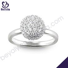 Semi precious stone free sample women wedding ring set