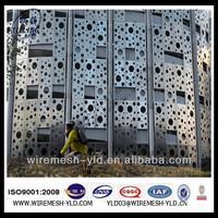 aluminium perforated facade panel/ exterior decorative building facades