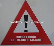 2014 china factory directly customed warning mark paper hang tag