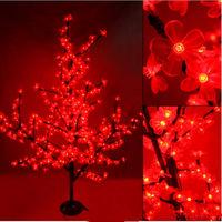 2014 New mini artificial led christmas tree decoration with cherry blossom flower Hight 150cm 480leds 30w 110v-220v