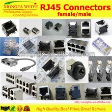Side entry 4p RJ11 Telephone Jack connector SC502-5521-4P-E
