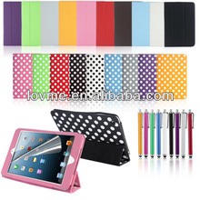 Magnetic PU Leather Smart Cover Case for Apple iPad Mini with Sleep Wake
