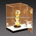 handmade elegante acrílico transparente boneco caixas de exposição